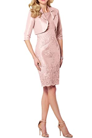 Gorgeous Bride Sheath Scoop with Jacket Mother of the Bride Cocktail Dresses -UK Size 6