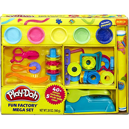 Play-Doh Over 40-Piece Fun Factory Pretend Play For Boys and Girls Mega -