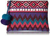 'ale by alessandra Women's Purple Reign Tribal Clutch With Moonstones and Poms, Multi, One Size