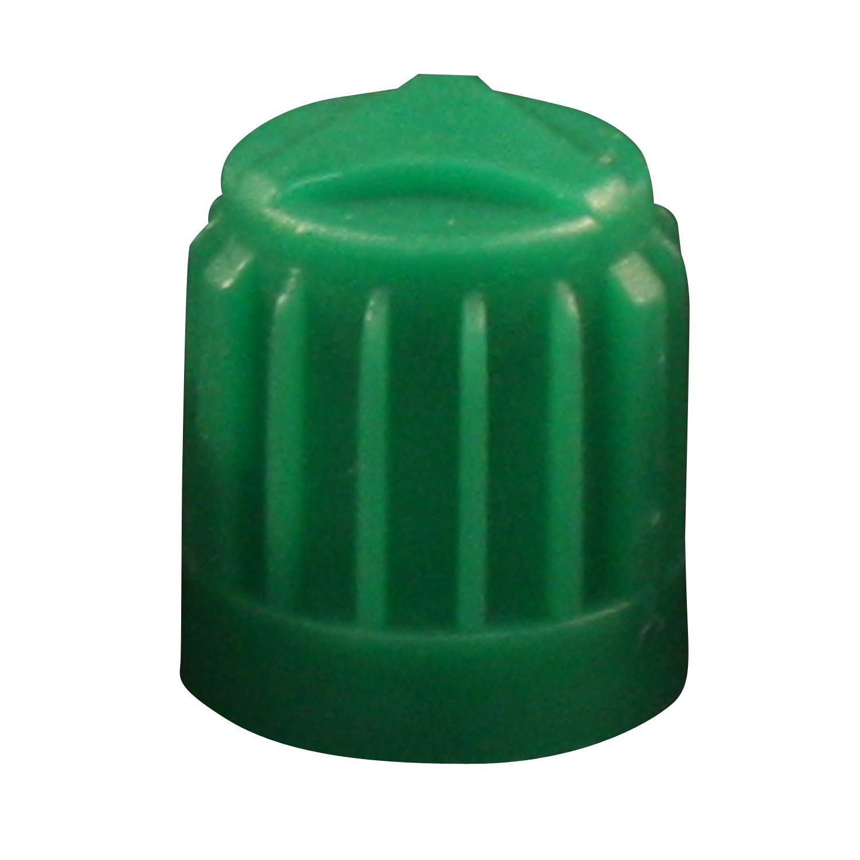 Milton 438 TR VC8 Green Plastic Dome Cap - Box of 100 Milton Industries