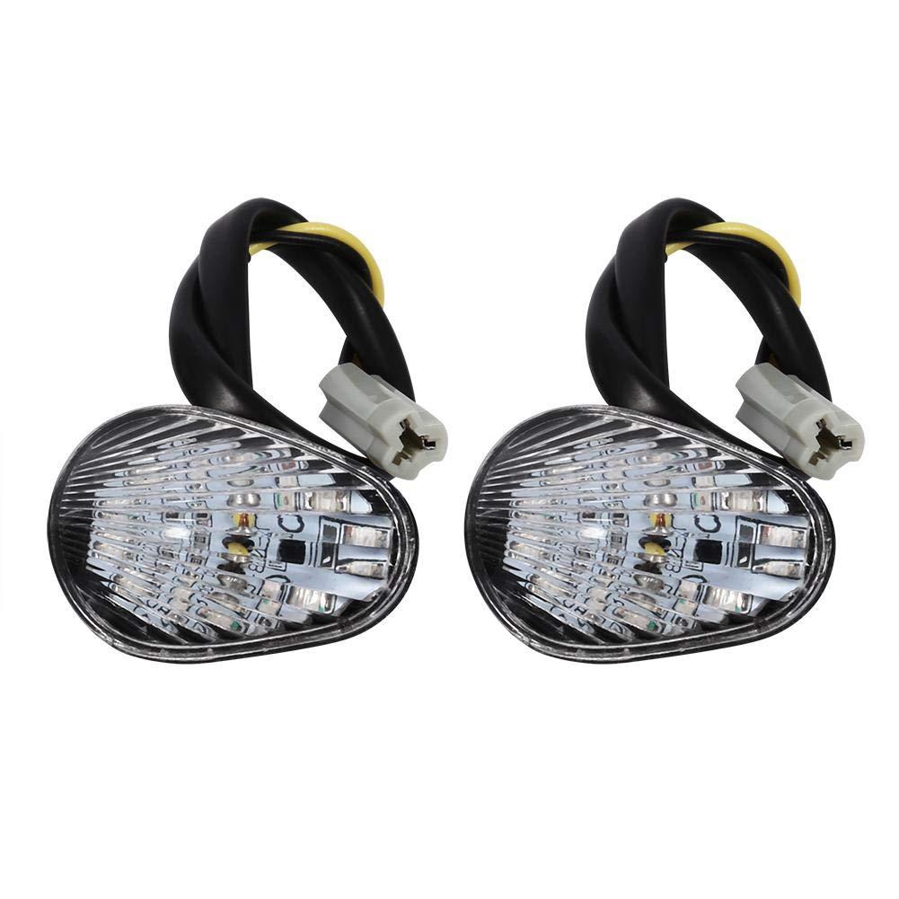 Smoke 1 Pair Motorcycle LED Turn Signal Lights Turn Signal Indicator Lamp Flush Mount for Y amaha R1 R6 R6S
