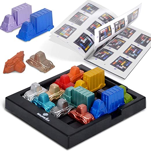 ZSLGOGO Traffic Jam Puzzle Blocks Game, Early Educational Challinging Logic Thinking Juego de Juguete Juegos de Mesa Puzzler Juegos Ingenio Juegos de Logica Adultos Trafficjam Puzzle para Niños: Amazon.es: Hogar