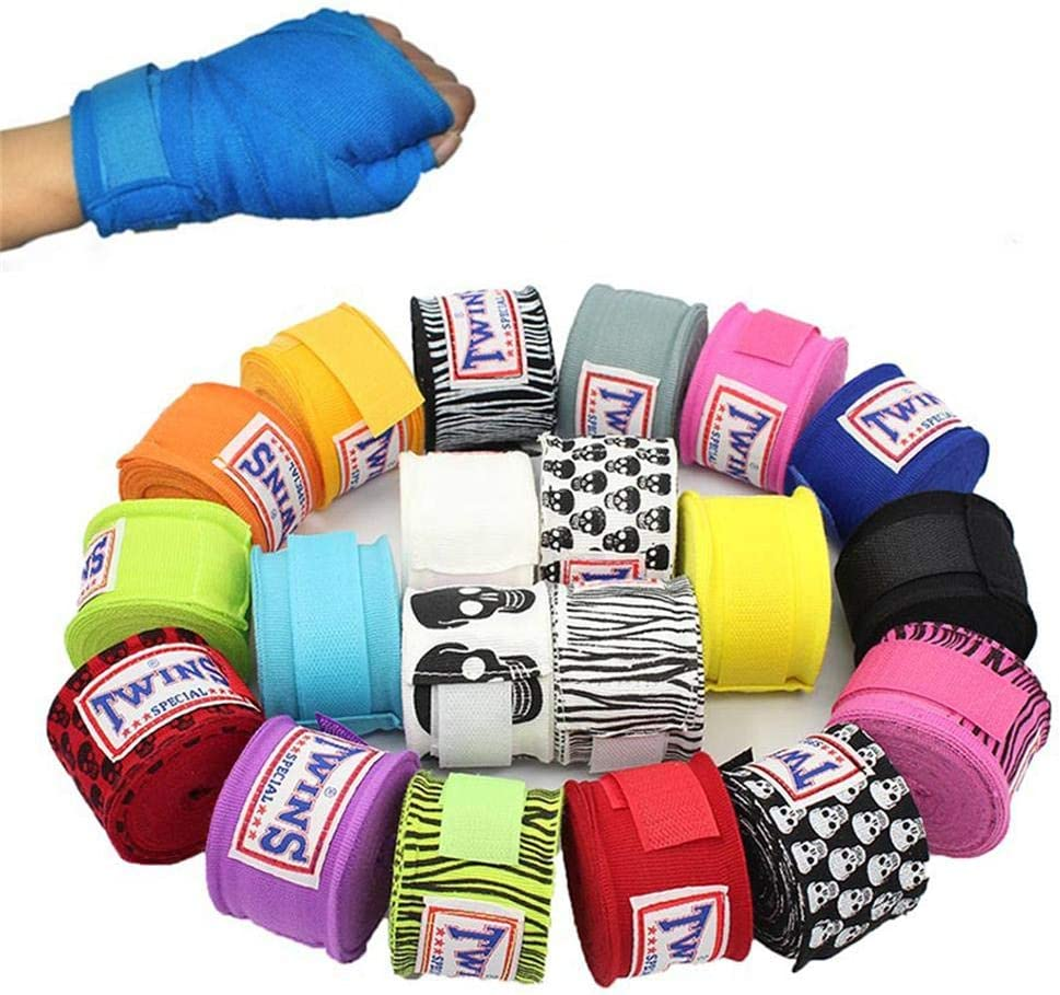 2 ST/ÜCKE 5 Mt Springy Cotton Kick Boxing Bandage Handgelenk Riemen Sanda Taekwondo Muay Thai Bandage Hand Handschuhe Wraps Sport Schutzausr/üstung Hand Straps Bandage