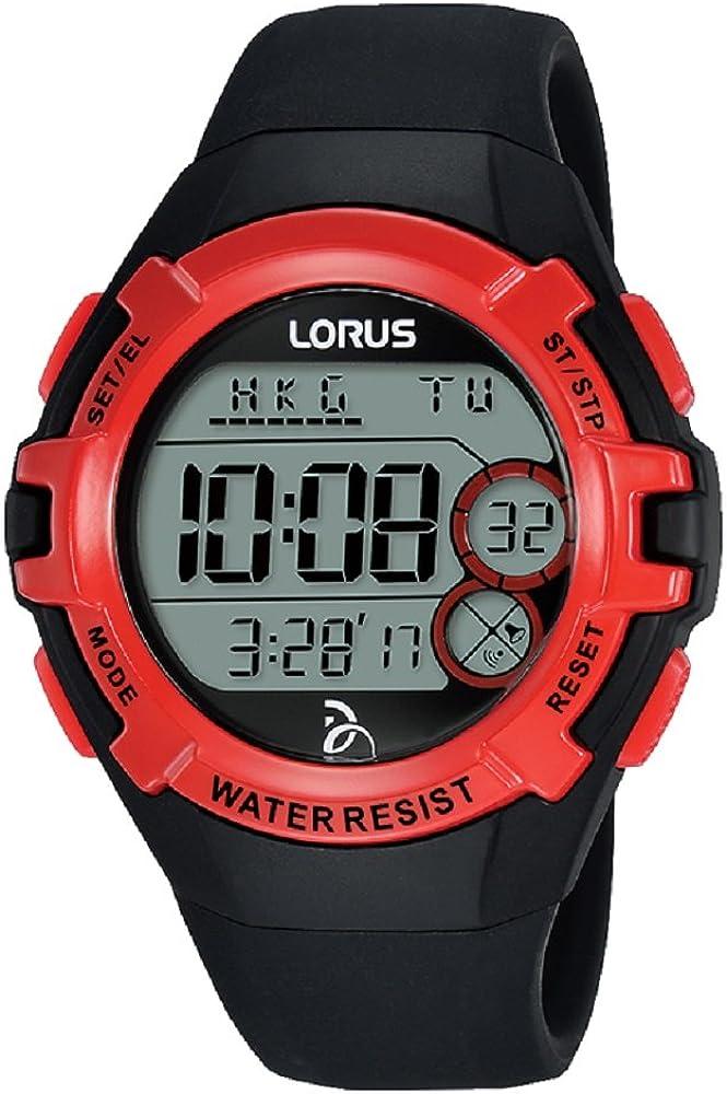Lorus Reloj Digital para Unisex de Cuarzo con Correa en Silicona R2389LX9