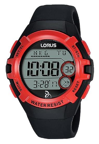 Lorus Reloj Digital para Unisex de Cuarzo con Correa en Silicona R2389LX9: Amazon.es: Relojes