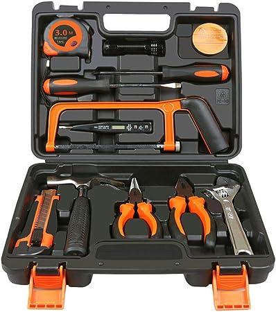 WJGJX Kit de Herramientas pequeñas de 13 Piezas Profesional, Mini Juego de Herramientas portátiles, Kit de Herramientas manuales para reparación del hogar con Caja de Herramientas de plástico: Amazon.es: Hogar