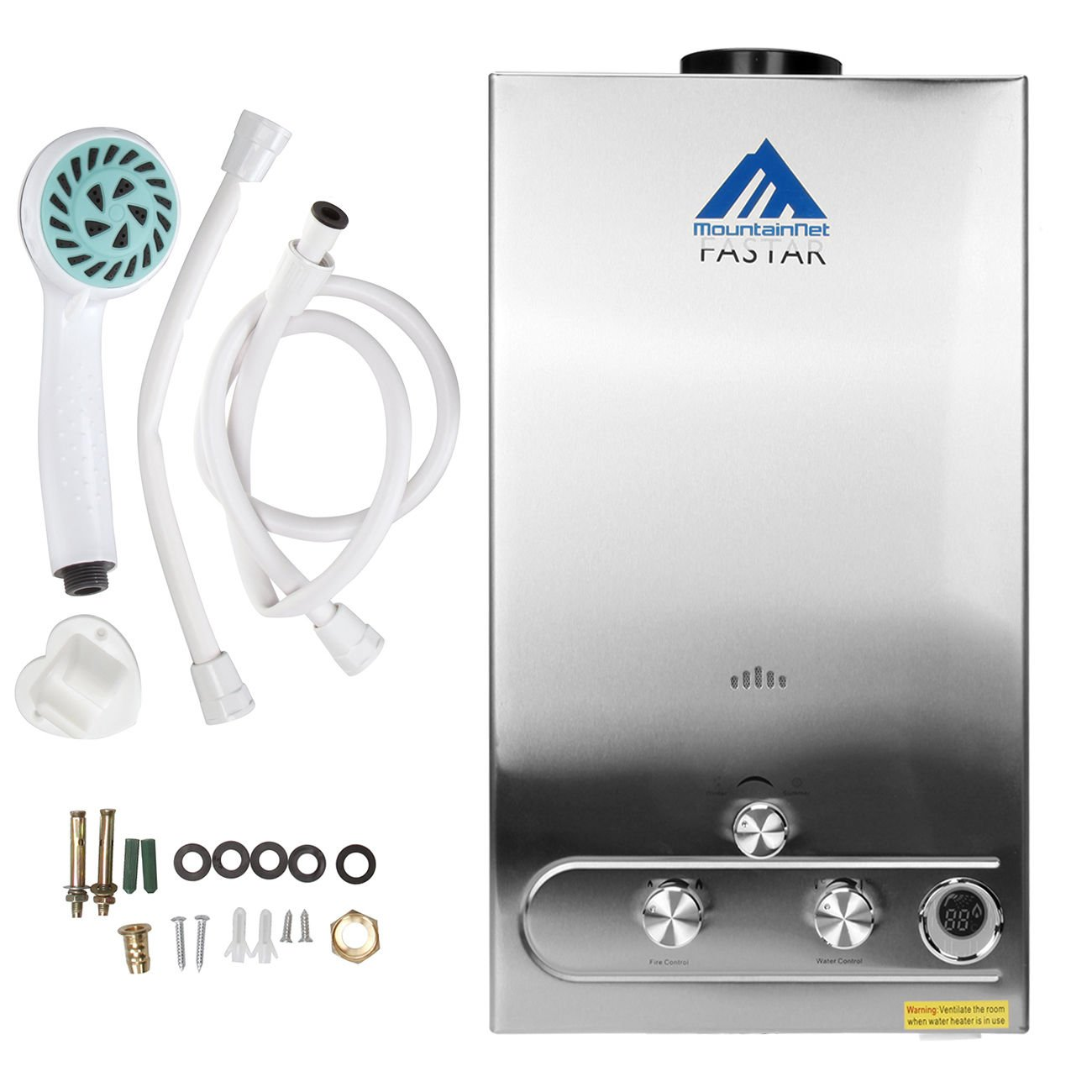 Ridgeyard 8L 2GPM LPG Propane Gas Tankless Instant Hot Water Heater Boiler Burner with Shower Head