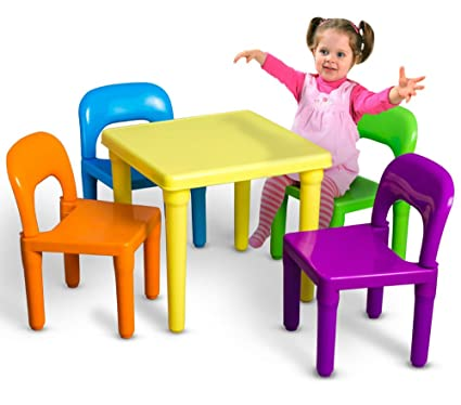 Groovy Amazon Com Kids Table And Chairs Play Set Toddler Child Toy Machost Co Dining Chair Design Ideas Machostcouk