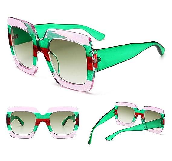 Z&YQ Fashion Sunglasses traslucido stripe Square box Street beat travel Eyewear , D