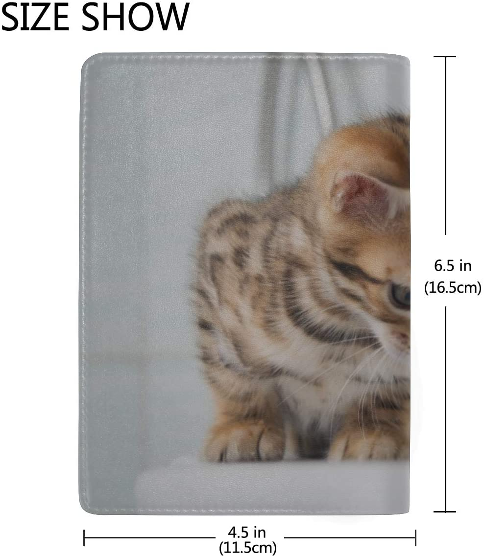 Us Passport Cover Leather A Cat Bathes In A Bath Stylish Pu Leather Travel Accessories Girls Cover Passport Holder For Women Men