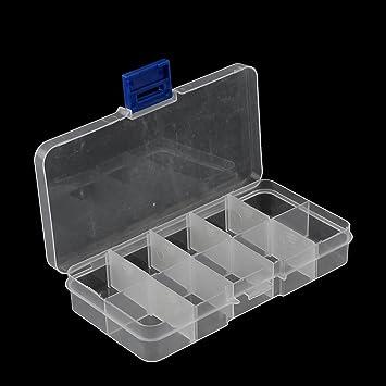 Amazon.com: Joyería eDealMax grano plástico Medicina 10 ranuras de la caja Caja de almacenamiento 2pcs Claro: Kitchen & Dining