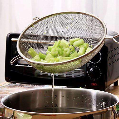 Spoon Strainer Mesh Wire Oil Flour Colander Sieve Sifter Kitchen Cooking Tool