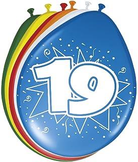Folatex Zahlenballons 12In Latexballons 19 Jahr /8 (FOLAT)