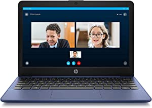2020 Newest HP Stream 11-inch HD Laptop, Intel 2-Core N4000 up to 2.6 GHz, 4 GB RAM, 32 GB eMMC, Webcam, Oydisen HDMI, Windows 10 S with Office 365 Personal for 1 Year, Blue (Google Classroom Ready)