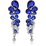 YouBella Fashion Jewellery Stylish Crystal Fancy Party Wear Earrings for Girls and Women