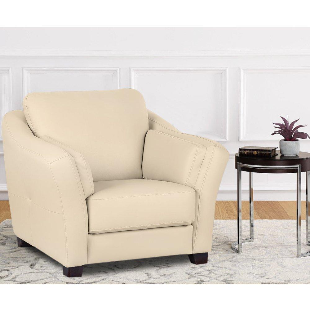 Casagrande 1 seater Leatherette sofa (Cream)