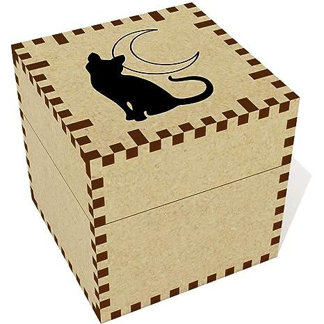 Azeeda Medio (57mm) Gato y Luna Joyería Caja (JB00055007)