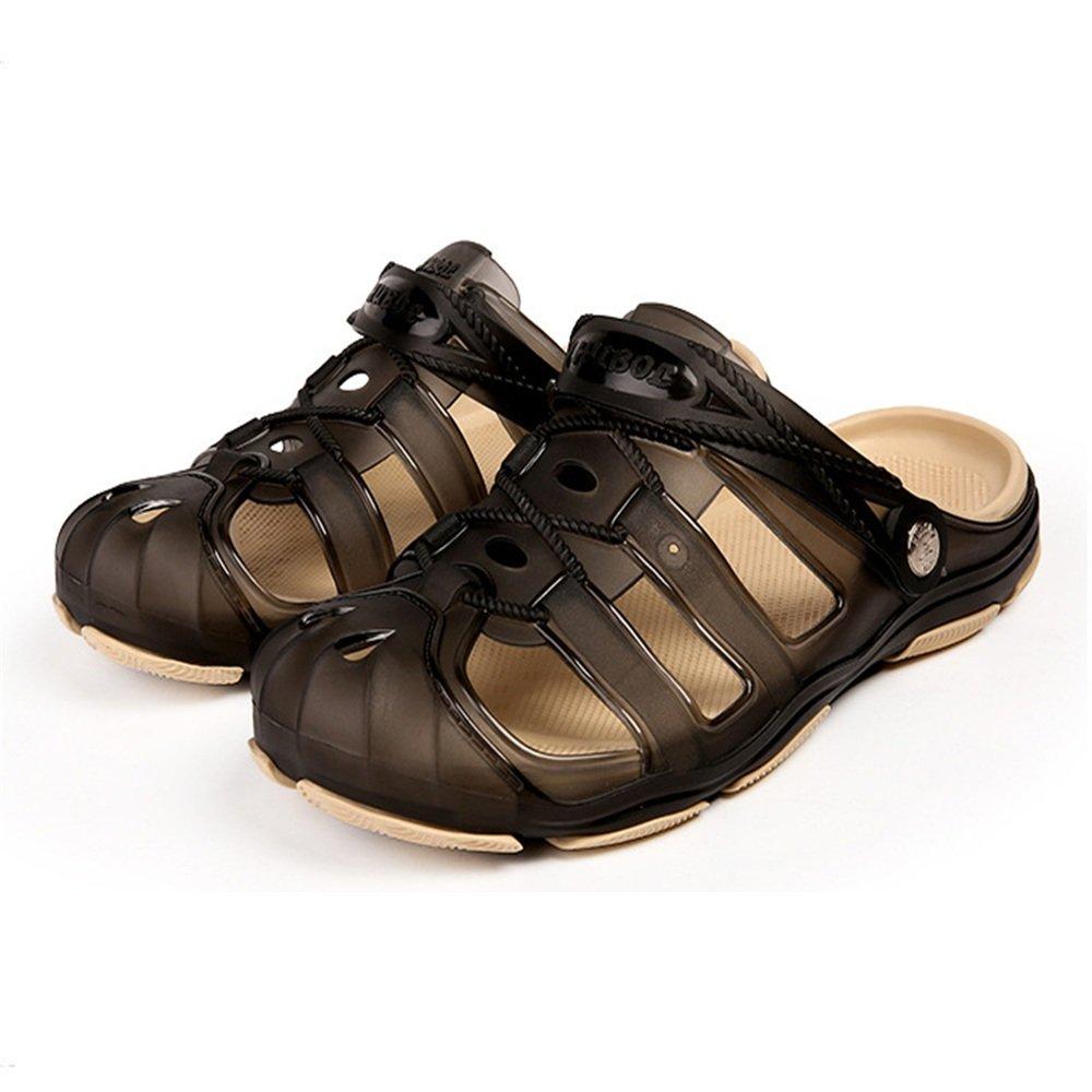 Wagsiyi Hausschuhe Sommer-Slipper-Männer Freizeit Anti-Rutsch-Strand Schuhe Atmungsaktive Hausschuhe Strandschuhe (Farbe : Grau, Größe : 43 1/3 EU) Grau