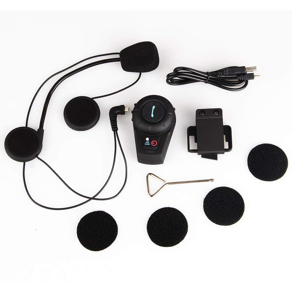 Buyee Waterproof 500m GPS Interphone Bluetooth Motorcycle Motorbike Helmet Intercom Handfree Headset,great for Riding and Skiing