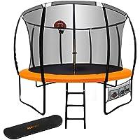 14ft Round Trampoline Free Basketball Safety Net Spring Pad Ladder KickDeck