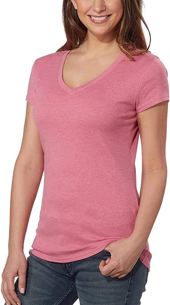 Kirkland Signature Femme Premium Peruvian Coton T-Shirt Col V Tee S M XL XXL