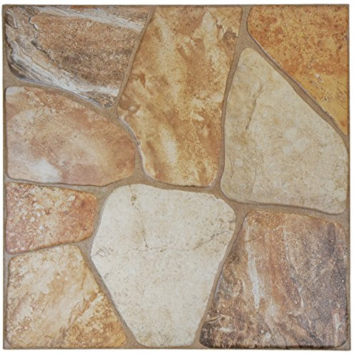 SomerTile FAZ18LYB Leon Ceramic Floor and Wall Tile, 17.75