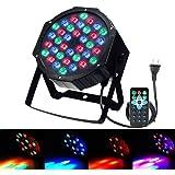 Disco Party Lights - SOLMORE LED Par Lights 36W DMX-512 RGB 36 LEDs Stage Lights DJ Light Sound Activated Projector Light Stage Lighting with IR Remote for Wedding Show Club Bar AC 110V-220V (1Pcs)