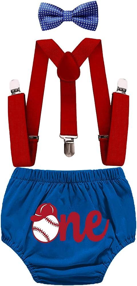 Baseball  Seersucker diaper cover first birthday outfit tie bib photo shoot first birthday hat Initials Monogram handmade