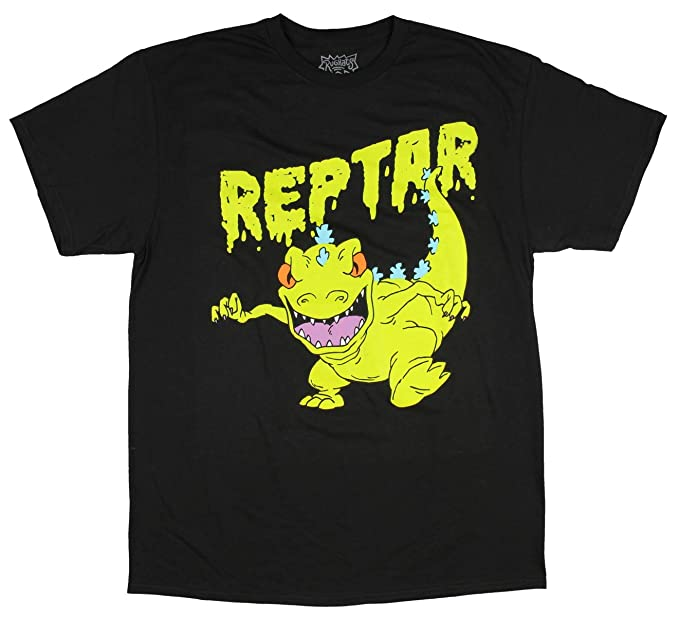 7599c9959 Image Unavailable. Image not available for. Color: Nickelodeon Rugrats  Reptar Slime Logo Men's Graphic T-Shirt ...