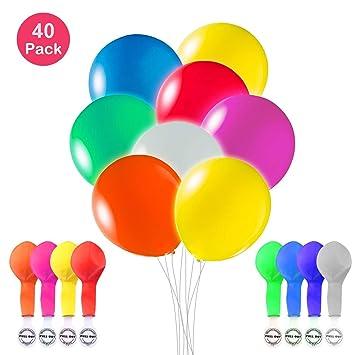 LED blinkende Luftballons Geburtstag Hochzeit Party Deko Ballons Licht Disko