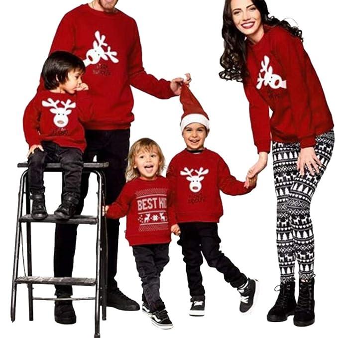 molto carino 492e2 98513 Luoluoluo Pigiama Pigiami Natale Famiglia Pigiami Donna Pigiama Uomo  Pigiama Bambina Invernali - Felpe Natale Famiglia Maglioni Natalizi Felpa  Maglie ...