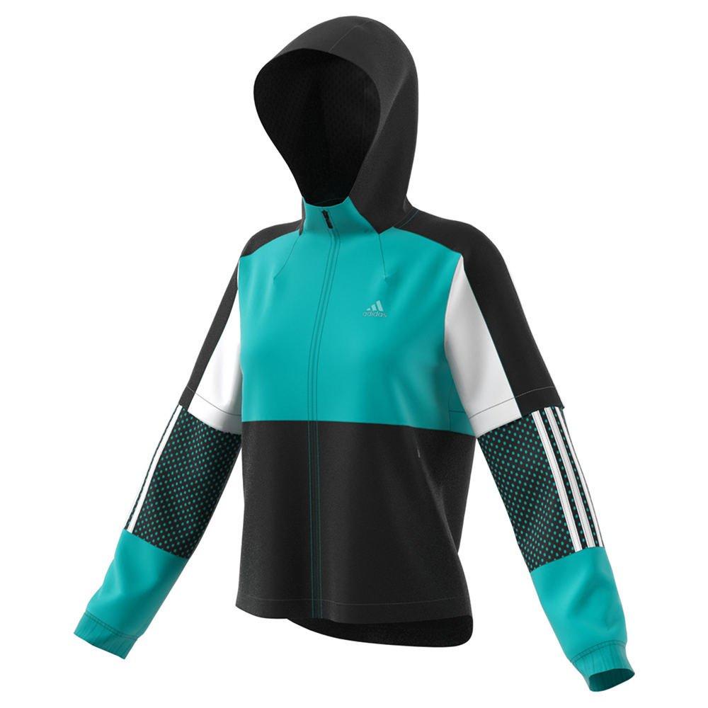 Adidas陸上競技スポーツID風ジャケット、hi-res Aqua/ブラック/ホワイト Large Hi-Res Aqua/Black/White B077ZMYHJ7