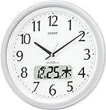 CITIZEN ( シチズン ) 電波 掛け時計 ネムリーナカレンダー M02 シルバー 4FYA02-019