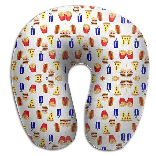 Junk Food Hot Dog Pizza Hamburger Soft Microfiber Neck-support Travel Neck - Hot Sunglasses Buttered