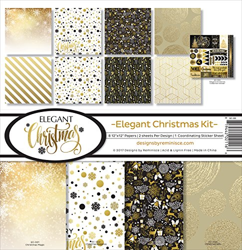 Reminisce Elegant Christmas Scrapbook Collection Kit -