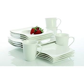villeroy boch new wave 30 piece basic dinnerware set white dinnerware sets. Black Bedroom Furniture Sets. Home Design Ideas
