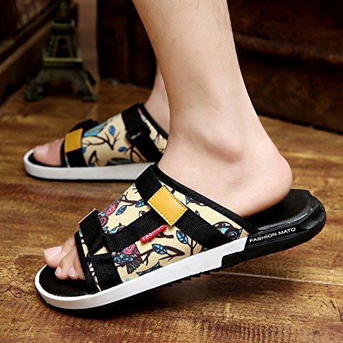 Xing Lin Sandalias De Hombre Zapatillas De Verano Masculino Flip Flops Sandalias Sandalias De Hombres Hombres Hombres Sandalias Antideslizantes De Nuevo owl