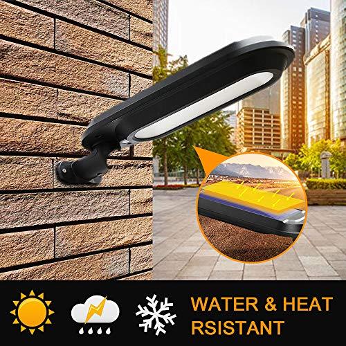 MZD8391 18 LED Solar Power Path Light Sensor Motion Activated Outdoor Garden Backyard Wall Home Decor Lamp (White)