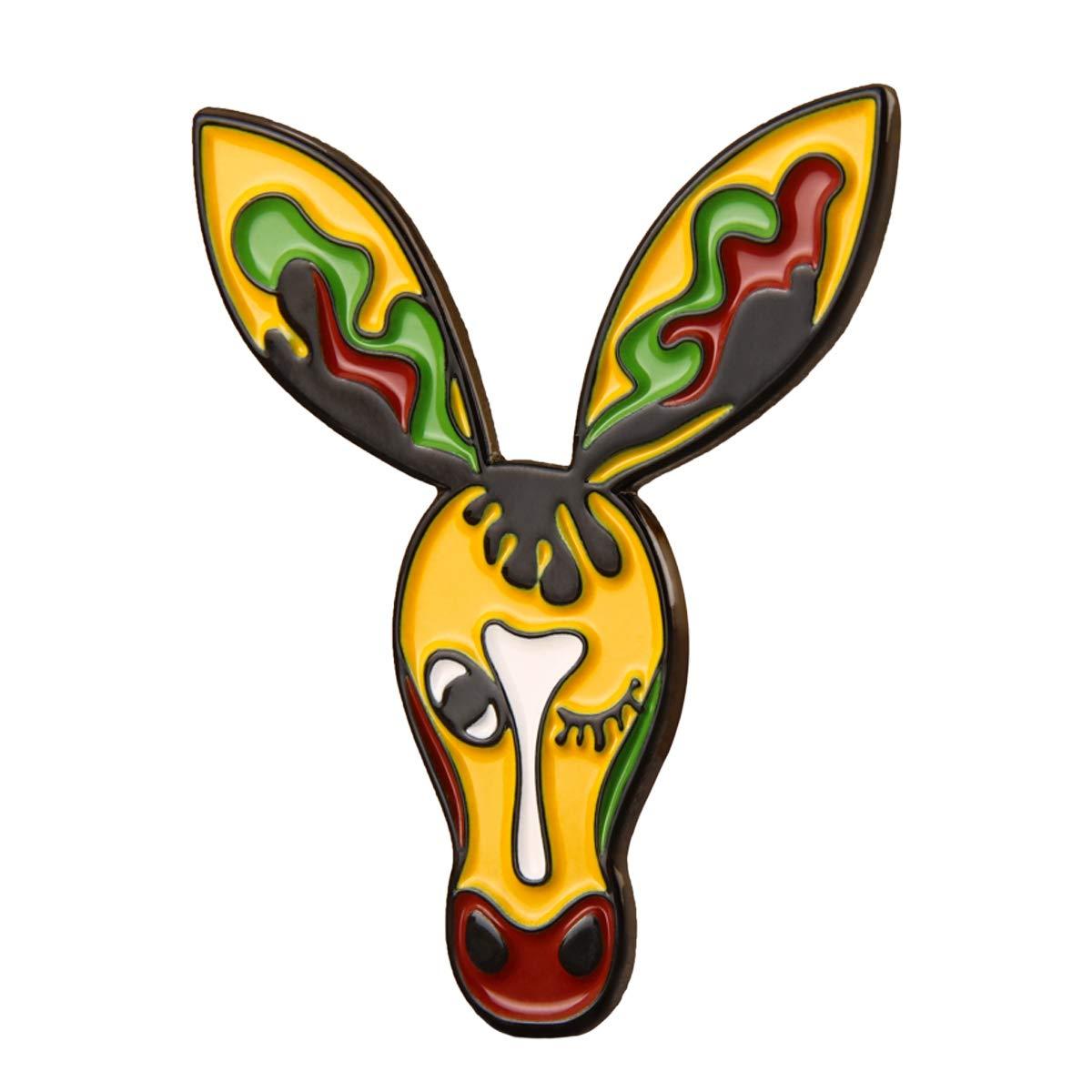 GS-JJ Drama Donkey Enamel Lapel Pin 1.5 B07G8SMG1B_US