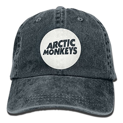 E-Isabel Arctic Monkey Adjustable Tennis Cotton Washed Denim Caps Navy