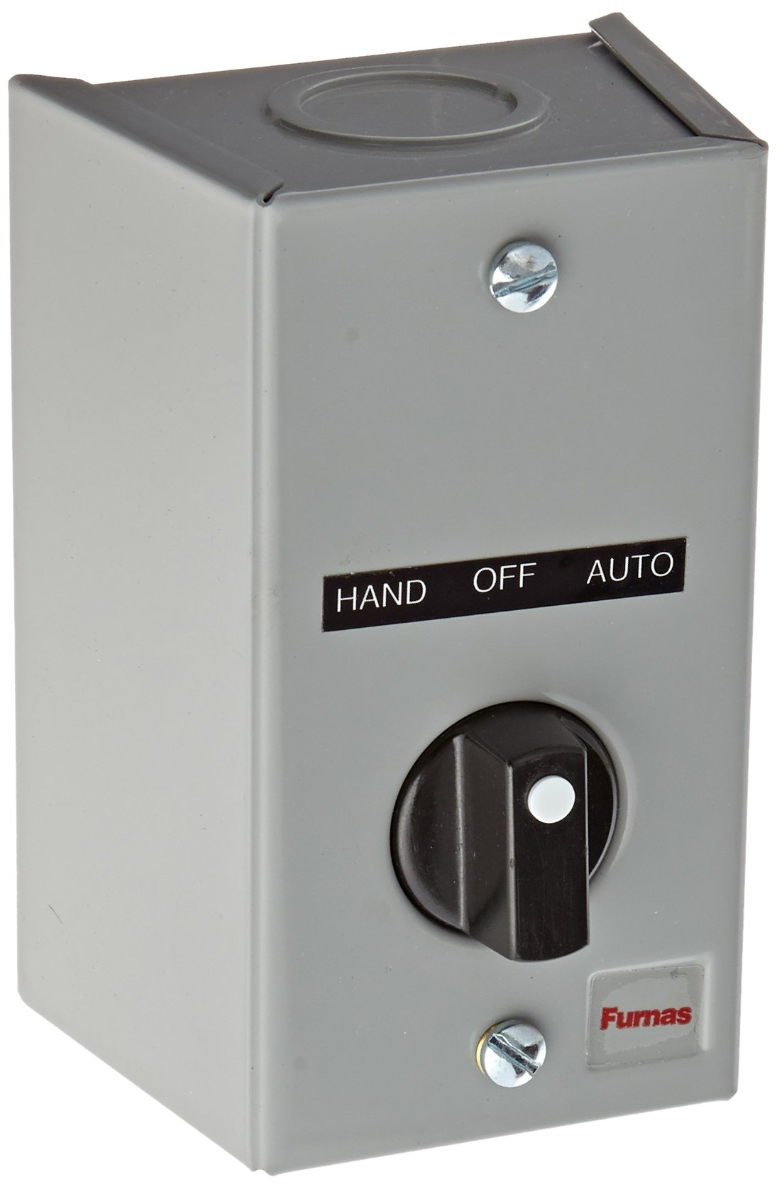 Siemens 50AA3C3 Surface Mount Enclosure, 3 Position Selector Switch, ''HAND-OFF-AUTO'' Labeled, 2 NO Contact Block