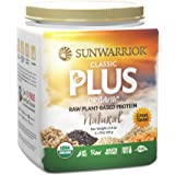 Sunwarrior - Classic Plus, Raw Organic Plant Based Protein, Natural, 20 Servings (1.1 lbs)
