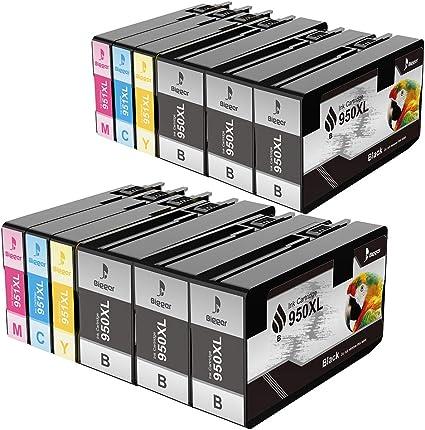 BIGGER Reemplazo de los Cartuchos de Tinta HP 950XL 951XL para Usar con HP Officejet Pro 251dw 276dw, 8100 8600 8610 8620 8630 8615 8625 8640 8660 (6 Negro, 2 Cian, 2 Magenta, 2 Amarillo): Amazon.es: Electrónica
