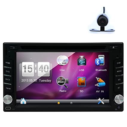 Car Autoradio GPS MAP Sat Navigation AM FM Radio iPod Digital Touchscreen Bluetooth Car Stereo DVD