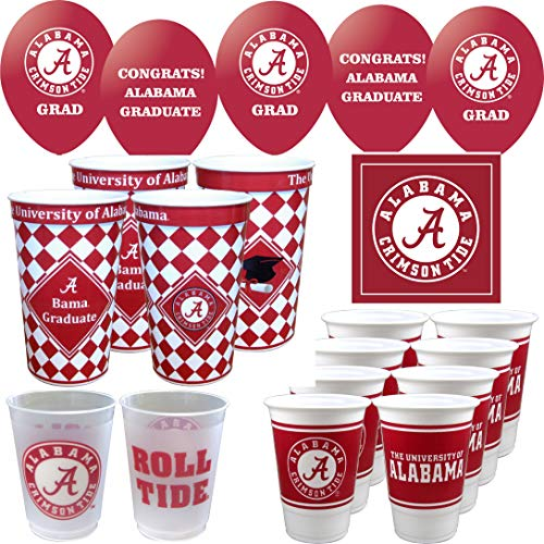 Westrick Alabama Crimson Tide Graduation Party Supplies 69 Pieces ()