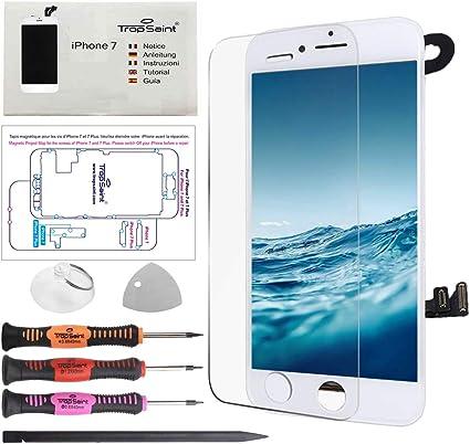Trop Saint® Pantalla para iPhone 7 Blanco LCD Completa Premium Kit ...