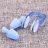 Leoie Unisex a Prueba de Agua de Silicona Suave natación Nariz Clip + Auriculares Set de natación Suministros