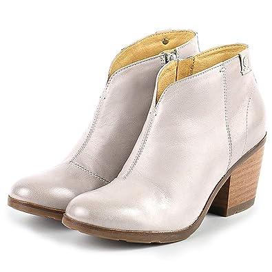 1f05da62c0139 Bussola Women Reikiavik V-Neck Booties, Runa Ankle Boots, Wooden Heels ( Light