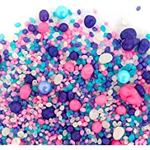 Candy Sprinkles | Cupcake Candyfetti | Purple Pink and Blue | MADE IN THE USA! | Edible Confetti (8oz Jar)
