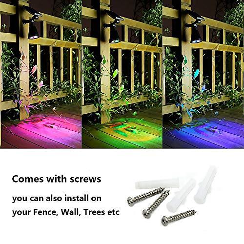 Appreciis Lights Solar 7 Adjustable Landscape Light Dark Security Night Lights Patio Yard Stairs Pool (2